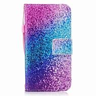 kotelon kannessa kortin haltija lompakko flip magneettinen kuvio koko kehon kotelo kimallus loistaa väri kaltevuus kova pu nahka samsung