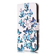Voor iPhone X iPhone 8 iPhone 8 Plus Hoesje cover Portemonnee Kaarthouder met standaard Flip Patroon Volledige behuizing hoesje Vlinder