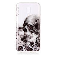 voor case cover imd transparante patroon achterhoes hoesje schedel zachte tpu voor Samsung Galaxy J7 (2016) j7 (2017) j5 (2016) j5 (2017)