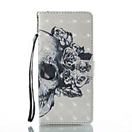 til kuffert kortholder lommebok med stativ flip mønster fuld kropshals kranium hårdt pu læder til Samsung Galaxy Note 8