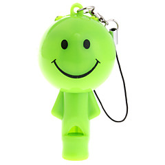 Lovely  Doll LED Keychain Flashlight with whistle (Random Color)