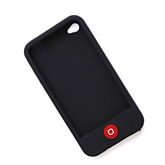 Custodia in silicone per iPhone 4 -Nero