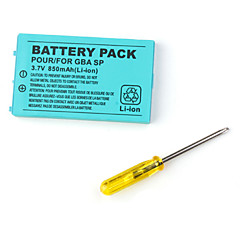 pacco batteria per Game Boy Advance SP (850mAh)
