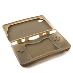 silicone pelle protettiva / case per Nintendo DSi LL / XL (nero traslucido)