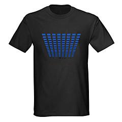 geluid en muziek geactiveerd spectrum vu meter el Visualizer geleid t-shirt (4 * aaa)