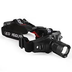 LED-Zaklampen / Hoofdlampen LED 5 Mode 210 Lumens Tactisch / Compact formaat / Klein formaat Cree XR-E Q5 10440 / AAA Anderen , Zwart