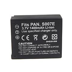 1400mah kamera bateri s007/bcd10 untuk PANASONIC LUMIX siri dmc-tz1