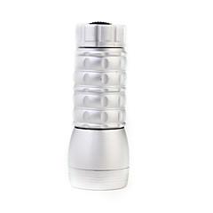 Mini 1-Modus 19-LED-Taschenlampe (60lm, 3x10440, Silber)