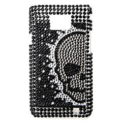 skelet mønster etui til Samsung i9100 (sort)