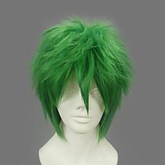 코스프레 가발 나루토 제츠 녹색 쇼트 에니메이션 코스프레 가발 32 CM 열 저항 섬유 남성