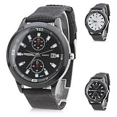Мужской Армейские часы Кварцевый Нейлон Группа Черный / Белый бренд-