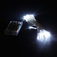 Lumière blanche 2 mode lampe LED chaîne de fées  3m 30-conduit pour noël (3xAA)