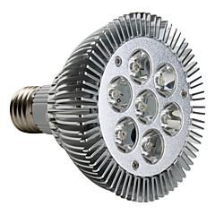 7W E26/E27 Lâmpadas de Foco de LED PAR30 7 LED de Alta Potência 680 lm Branco Quente AC 220-240 V