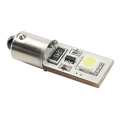 Ba9s 5050 SMD CANBUS 2-LED White Light Bulb for Car (DC 12V, Set of 4 pcs)