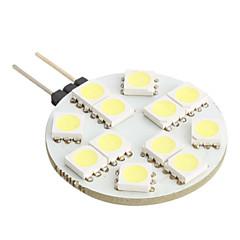 G4 1W 12x5050SMD White Light LED Bulb for Car Reading Lamp (DC 12V)
