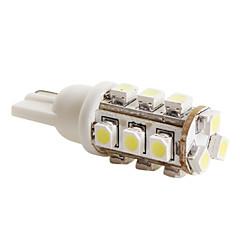 T10 3528 SMD 15-LED 0.48W 40MA White Light Bulb for Car (DC 12V)-Pair