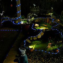 100 LED blau Solarröhre Außenleuchten Gartenhof Dekor