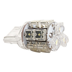 t20/7440 13-LED 1.2W 100mA valkoinen lamppu auton (DC 12V)-parin