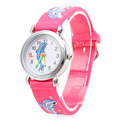 Kinderen Modieus horloge Kwarts Silicone Band Cartoon Roze Merk-