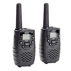 Premium 22-Channel GMRS FRS Walkie Talkie (5KM range, 2-Pack, Black)