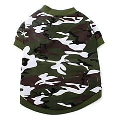 개 티셔츠 그린 강아지 의류 여름 모든계절/가을 위장 패션