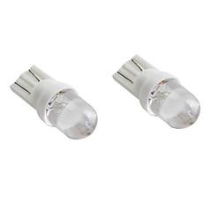 T10 hvitt lys LED-pære for bil signallamper (2-pack, dc 12v)