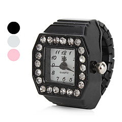 Women's Diamond Style Alloy Analog Quartz Ring Watch (Assorted Colors) Cool Watches Unique Watches