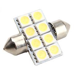 haute performance 31mm 8 * la lumière led blanc 5050 SMD signal de la voiture