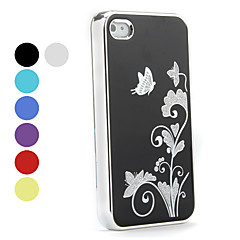 wzór motyl aluminium twarde etui do iPhone 4 i 4S (kolory Assorted)