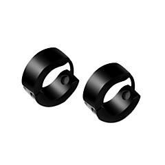 Men's Titanium Steel Grind Pattern Earring  Jewelry