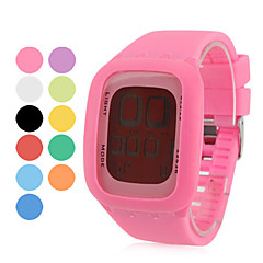 Unisex Digital LED Style Multi-Functional Silicone Wrist Watch (Assorted Colors)