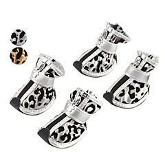 Perros Calcetines y Botas Dorado / Plateado Primavera/Otoño Leopardo