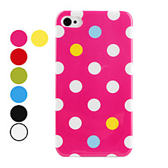 Round Dots Pattern Hard Case for iPhone 4 and 4S (Assorted Colors)