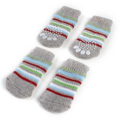 Calcetines y Botas para Perros Gris Primavera/Otoño Algodón