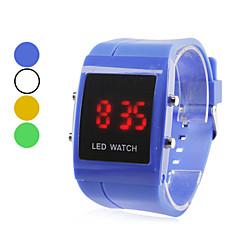 los hombres de plástico reloj de pulsera digital LED (colores surtidos)