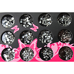 Circle Resinic Style Diamonds Nail Art Nail Decorations Suit