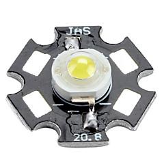 3200-3500k 0.5w 50 60lm 알루미늄 판과 150mah 따뜻한 백색 LED 전구 (3.0-3.4v)