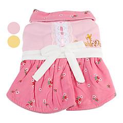 patrón rosa bowknot vestido de algodón para perros (xs-xl, colores surtidos)