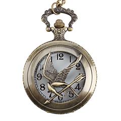 Relógio de Bolso Unissex de Pássaro Analógico (Bronze)
