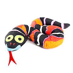 고양이 반려동물 장난감 캣닙 뱀 블랙 직물