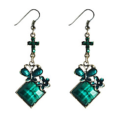 Lureme®Butterfly Pendant Turquoise Earrings