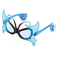 Plastic Funny Butterfly Shaped LED Glasses for Kids (Random Color)