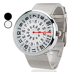 Orologio analogico, al quarzo, unisex, nuovo design - Argento