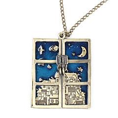 Halsband Hänge Halsband Smycken Dagligen Mode Legering / Glas Brons / Silver / Vit 1st Present