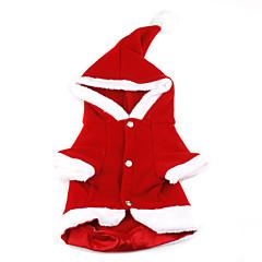 Natale Babbo Natale con cappuccio Cappotto di stile per i cani (Rosso, XS-XL)