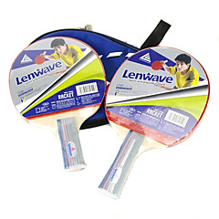 LENWAVE Wooden Long Handle Table Tennis Bats (1 pcs)