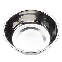 Tazón de acero inoxidable para mascotas Perros Gatos