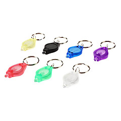 LED White Light Mini Flashlight Keychain (2xCR2016, Random Color)