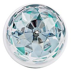 3W E26/E27 Lampadine globo LED 3 LED ad alta intesità 270 lm Colori primari Attivazione sonora AC 85-265 V