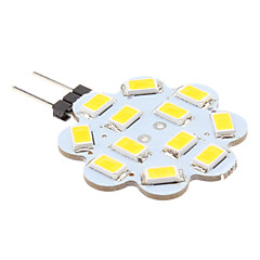 2W G4 LED Bi-pin Lights 12 SMD 5630 250 lm Warm White DC 12 V